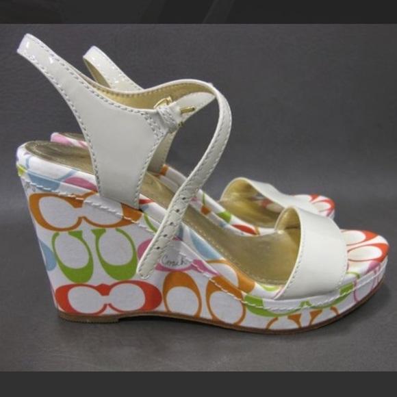 95c859aba7 Coach Shoes   Signature Klara Wedge Size 7   Poshmark